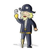 Capitán pirata de dibujos animados — Vector de stock