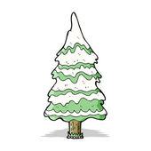 Kreslené vánoční strom — Stock vektor