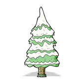 árbol de navidad de dibujos animados — Vector de stock
