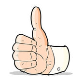 Cartoon thumbs up symbol — Stock Vector