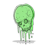 Cartoon slimy skull — Stock Vector