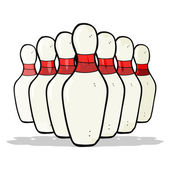 Cartoon bowling pins — Vettoriale Stock