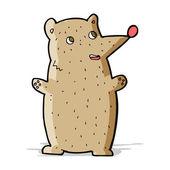 Vtipné kreslené medvěd — Stock vektor