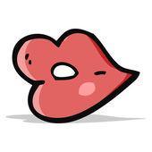 漫画の唇 — ストックベクタ