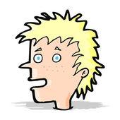 Kreslený nadšený kluk — Stock vektor
