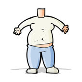 Cartoon body (mix and match cartoons or add your own photo head) — Stock Vector