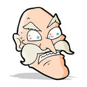 Cartoon angry old man — Vector de stock