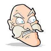 Karikatura zlobí starý muž — Stock vektor
