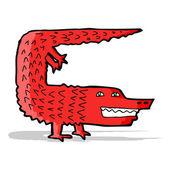 Karikatür timsah — Stok Vektör