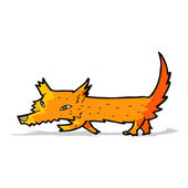 Cartoon little fox — Stock Vector