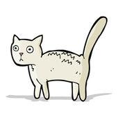 çizgi film korkmuş kedi — Stok Vektör