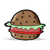 Hamburger di cartone animato — Vettoriale Stock