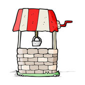 Cartoon wishing well — Stockvector