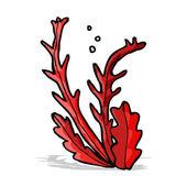 Cartone animato alghe — Vettoriale Stock