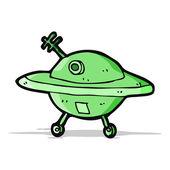 Kreslený létající talíř — Stock vektor