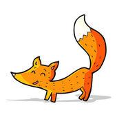 Dibujos animados pequeño zorro — Vector de stock