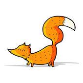 мультфильм мало лисица — Cтоковый вектор