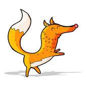 Kreslený šťastný fox — Stock vektor