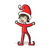 Desenho animado elf natal — Vetorial Stock