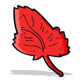 Cartoon leaf symbol — Stock Vector