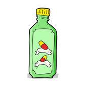 卡通旧瓶药 — 图库矢量图片