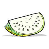 Cartoon melon slice — Stock Vector