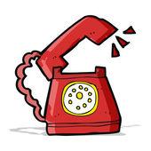 Cartoon ringing telephone — Vector de stock