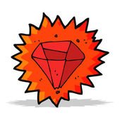 Cartoon ruby — Vector de stock