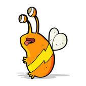 漫画面白い蜂 — ストックベクタ