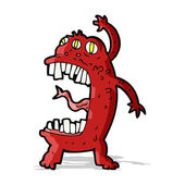 Kreslené bláznivé monster — Stock vektor