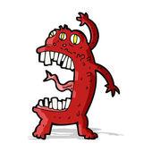 Monstruo locura dibujos animados — Vector de stock
