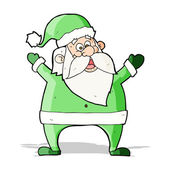 Jolly santa cartoon — Vettoriale Stock