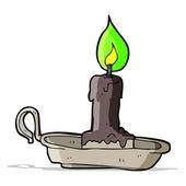 Cartoon spooky candlestick — Stock Vector