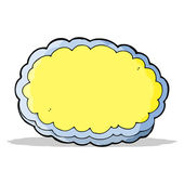 Cartoon decorative cloud — Vector de stock