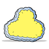 Cartoon decorative cloud — Stock Vector
