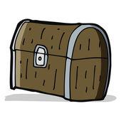 Karikatür hazine sandığı — Stok Vektör