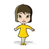 漫画の女の子のドレス — ストックベクタ