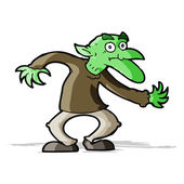 Cartoon goblin — Stock Vector