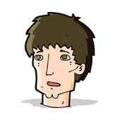 Cartoon worried man — Stock Vector