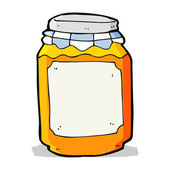 Cartoon jar of marmalade — Stockvektor