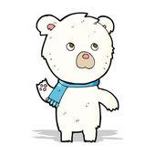 Cartoon cute polar bear — Stock Vector