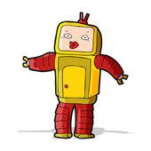 Robot de divertidos dibujos animados — Vector de stock
