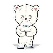 Cartone animato carino piccolo orso — Vettoriale Stock