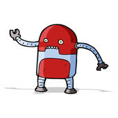Funny cartoon robot — Stock Vector