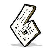 Cartoon wooden number — Stock Vector