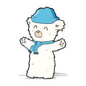 Cartone animato carino orso polare — Vettoriale Stock