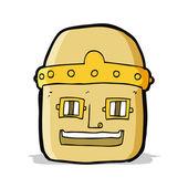 卡通机器人头 — 图库矢量图片