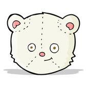 Cartoon polar bear head — Stock Vector
