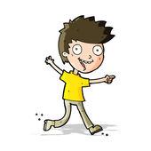 Cartoon crazy excited boy — Stock Vector