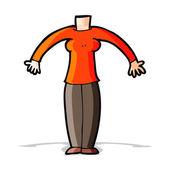 Cartoon body (mix and match cartoons or add own photos) — Stock Vector